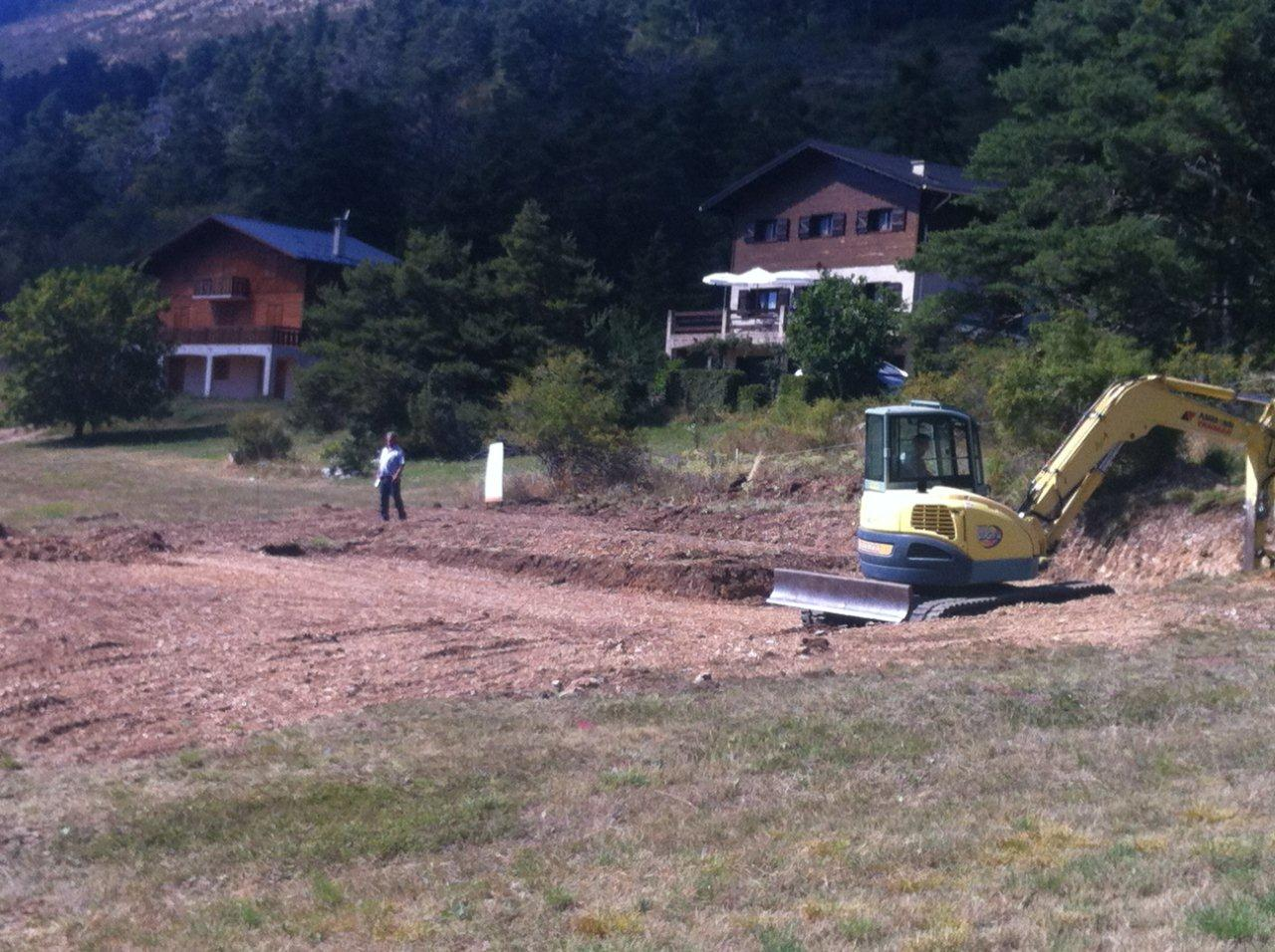 Maison En Bois Natura à Caille (préparation Du Terrain)