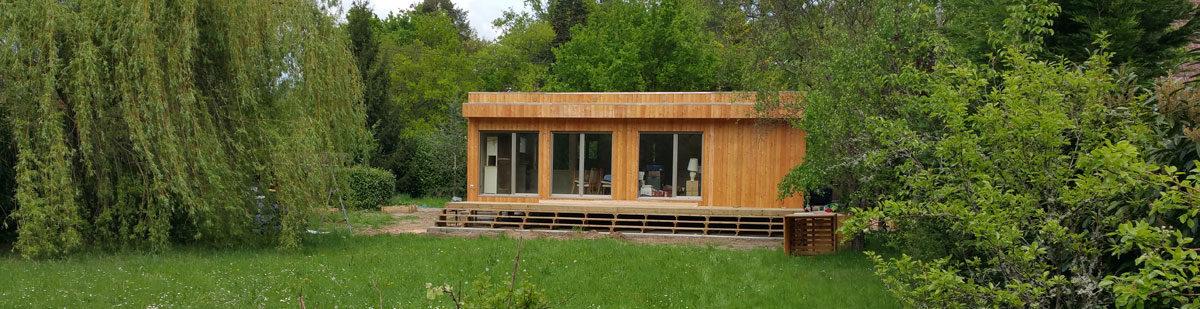 Montage D'une Maison Préfabriquée En Bois Dans Le Loir Et Cher