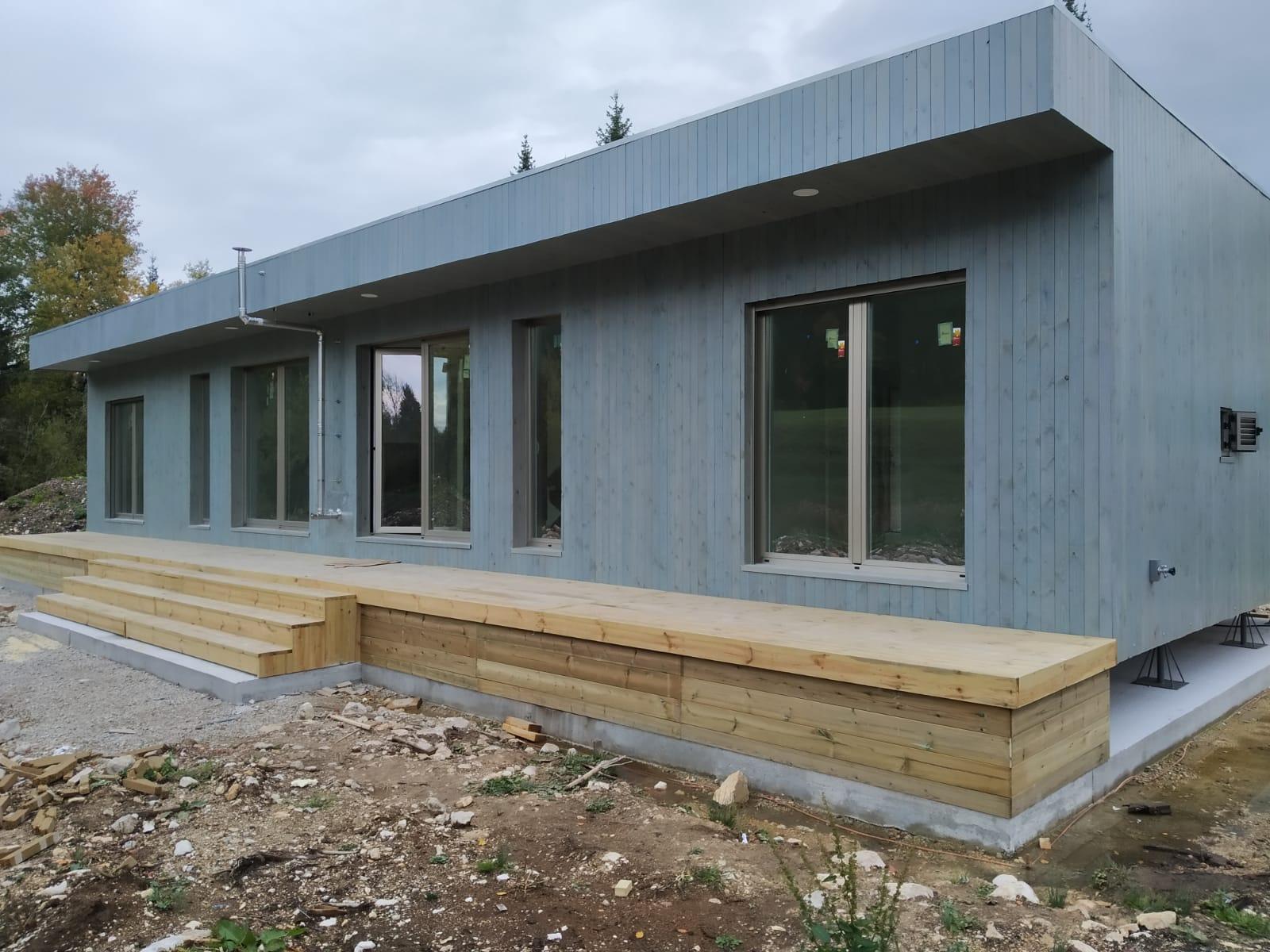 Maison Ossature Bois Suede maison modulaire bois. maison prefabriquée. maison en bois